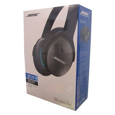 e7bf7da04f2 Bose QuietComfort 25 Acoustic Noise Cancelling Headphones White ...