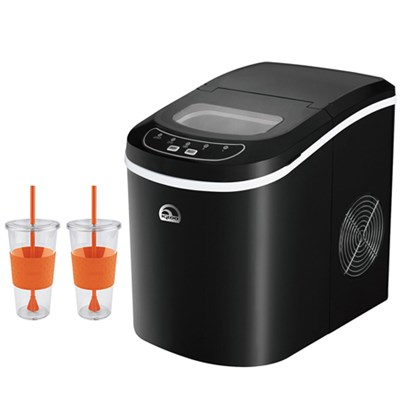 Igloo Ice 101-Black Countertop Ice Maker Black : BeachCamera.com - Igloo Compact Ice Maker Black with Copco 24 Ounce ...