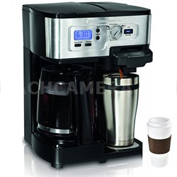 2-Way FlexBrew 12-Cup Coffeemaker, Factory Refurbished + Copco To Go Cup Bundle