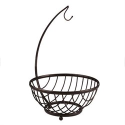 Ashley Fruit Basket and Banana Holder, Bronze - 57824