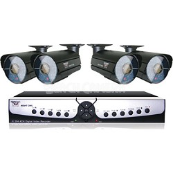 4 Channel Smart DVR with 500GB Hard Drive, and 4 x 600 TVL Cameras