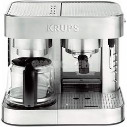 Automatic Die Cast Pump Espresso Machine and Coffee Maker Combination - Silver