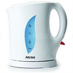 Electric Water Kettle, 1-Liter, White