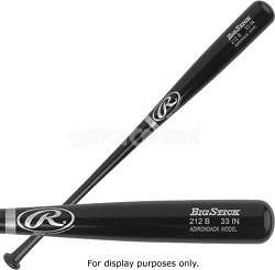 "Adult Black Ash Wood Baseball Bat 34"""