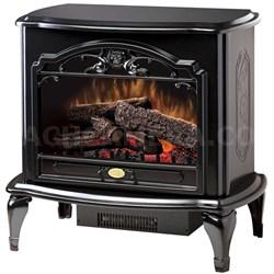 Celeste Electric Stove-Style Fireplace - Gloss Black