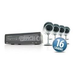 Web Ready 16 Channel H.264 DVR Security System w/ 16 Cameras