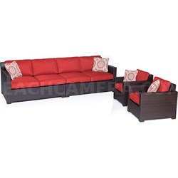 Metro4pc Seating Set: 2 Side Chairs Right/Left Arm Loveseat