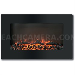 """Callisto 30"""" Wall-Mount Electronic Fireplace with Flat-Panel - CAM30WMEF-2BLK"""