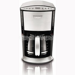 KM720D50 Programmable 12-Cup Coffee Maker w/ Glass Carafe LCD Screen - Stainless
