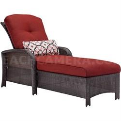 Strathmere Luxury Chaise in Crimson Red - STRATHCHSRED