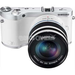 NX300 Mirrorless Digital Camera w 20-50mm F/3.5-5.6 ED II Lens (White) -OPEN BOX