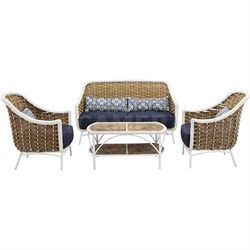 Outdoor Athens 4-Piece Patio Set - ATH-4PC-NVY