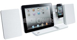 UXVJ3W iPad/iPod/iPhone Mini System 30-Watt Dual Dock (White) Refurbished