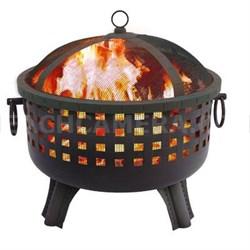 "23.5"" Savannah Garden Light Fire Pit in Black - 26364"