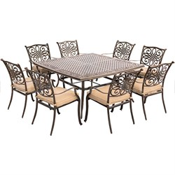 "Traditions 9-Piece Dinning Set with 60"" Square Table - TRADDN9PCSQ"