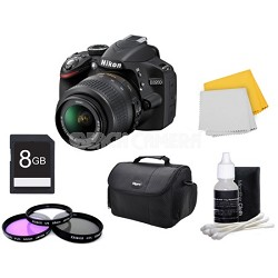 D3200 Digital SLR Kit w/ 18-55mm Lens + Bundle Accessories Factory Refurbished
