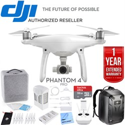 Phantom 4 Pro Quadcopter Drone - CP.PT.000488 with Ultimate Bundle