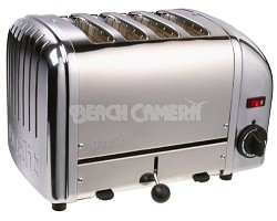 40415 Bread Toaster 4- Slice Toaster Chrome