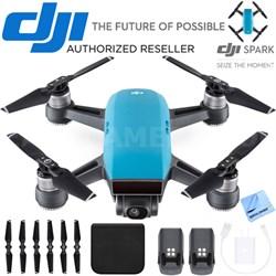CP.PT.000733 SPARK Intelligent Portable Mini Drone Sky Blue Battery Bundle