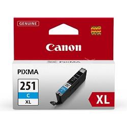 CLI-251 Cyan XL Ink Tank for PIXMA iP7220, MG5420, MG6320 Printers