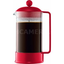Brazil 8 Cup French Press Coffee Maker 34 oz Glass Carafe - Red - OPEN BOX