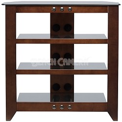 "NFAV230 - Natural Four Shelf A/V Stand for TVs up to 32"" (Mocha Finish)"