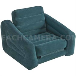 Inflatable 2-in-1 Pull-out Chair & Twin Bed 43 x 86 x 26 Inches - 68565E