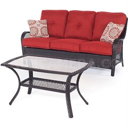 Orleans 2 Piece Seating Set in Autumn Berry - ORLEANS2PC-B-BRY