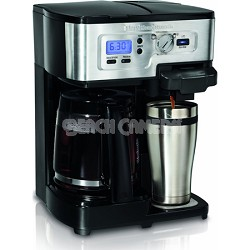 2-Way FlexBrew Single Serve and 12-Cup Coffeemaker, Factory Refurbished