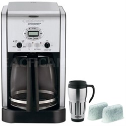 Brew Central 12-Cup Programmable Coffeemaker - Refurbished +Travel Mug