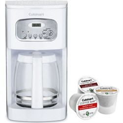 Brew Central 12-Cup Programmable Coffeemaker White + K-Cup Pack