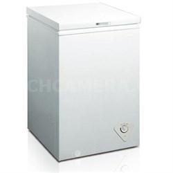 Single Door Chest Freezer, 2.1 Cubic Feet, White