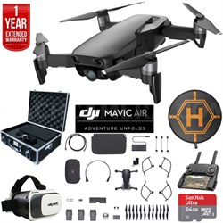 Mavic Air Fly More Combo Onyx Black Drone Deluxe Fly Bundle & Warranty Extension