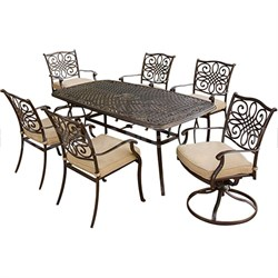 Traditions 7 Piece Deep Cushioned Outdoor Dining Set - TRADITIONS7PCSW