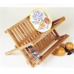 Bamboo Folding Dishrack - 8813