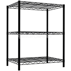 3 Tier Wire Shelving - Black