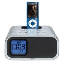 iH22SV  iPod Dual Alarm Clock Speaker System (Silver)     OPEN BOX