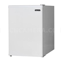 2.4 Compact Refrigerator Mini Bar Office Fridge with Freezer - White