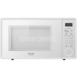 1.1 Cubic Feet 1000-Watt Microwave Oven, White - TORN BOX