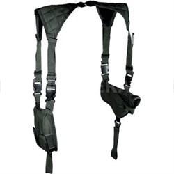 LE Grade Deluxe Universal Horizontal Shoulder Holster, Black (PVC-H170B)
