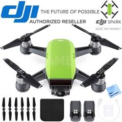CP.PT.000734 SPARK Intelligent Portable Mini Drone Meadow Green Battery Bundle