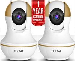 2-Pack Wireless IP Surveillance White Camera Wifi HD 720P+Warranty IP1M902
