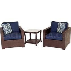 Metropolitan 3-Piece Chat Set in Navy Blue - METRO3PC-B-NVY