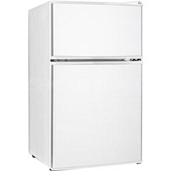 3.1 Cu. Ft. Compact 2 Door Refrigerator with Freezer in White - KSTRC312CW