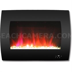 26  Color Changing Wall Mount Fireplace with Crystals