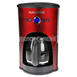 Red Programmable 12 Cup Coffee Maker