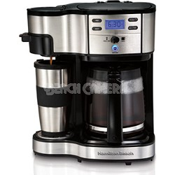 Two Way Brewer Single Serve and 12 cup Coffee Maker