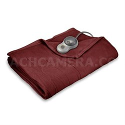 Quilted Fleece Heated Blanket with EasySet Pro Controller King (Garnet) BSF9GKS