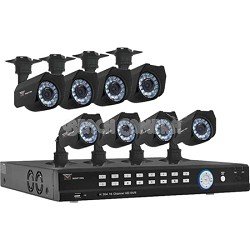 16 Channel 500GB DVR Kit with 8 Cameras - (2 with Audio) Smart Phone Compatible