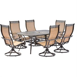Manor 7 Piece Dining Set with 6 Rockers and Dining Table - MANDN7PCSW-6